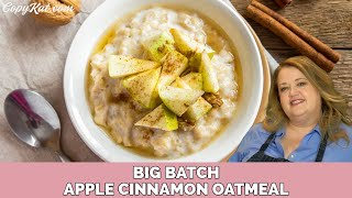 Big Batch Cinnamon and Apple Oatmeal Made in a Multi Cooker