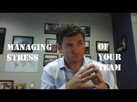 Managing stress of your team