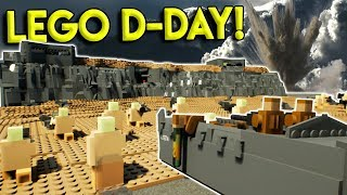 HUGE LEGO D-DAY CITY BATTLE! - Brick Rigs Gameplay Challenge & Creations - Military Roleplay