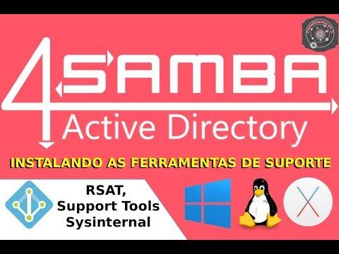 🗂 AULA BÔNUS: Instalando RSAT, Support Tools e Sysinternal no Windows 7  SAMBA-4 Level 2
