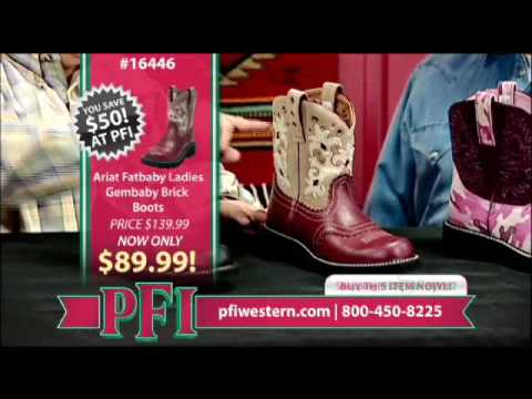 Ariat FatBaby Camo Boots and Gem Baby Boots - YouTube