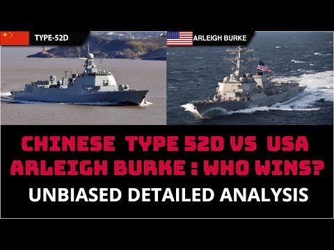 CHINESE  TYPE 52D VS  USA ARLEIGH BURKE CLASS : WHO WINS?