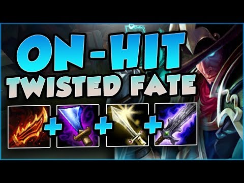 STOP PLAYING TWISTED FATE WRONG! ON-HIT IS THE NEW META! TWISTED FATE TOP! - League of Legends