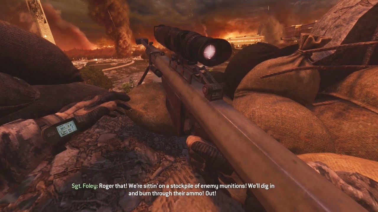 Epic SNIPER Gameplay from Call of Duty MW 2 Campaign Remastered