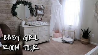 BABY GIRL NURSERY TOUR // BOHO NURSERY 2019 // MAMA APPROVED