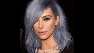 Kim kardashian goes bold and blond in platinum locks at the nyfw