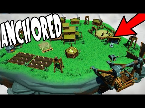 Anchored - BUILD A FLOATING ISLAND CITY, DEFEND FROM MONSTERS! - Anchored Gameplay