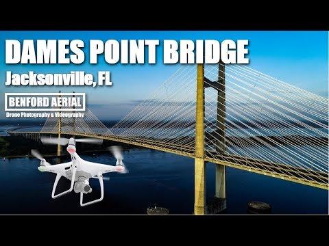 Dames Point Bridge | 4K | DRONE Aerial Video | Jacksonville Florida |