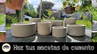 How to make cement pots, complete step-by-step tutorial.