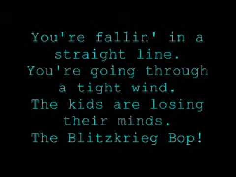 Teenage Lobotomy Blitzkrieg Bop - green day - lyrics
