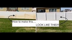 How to Clean Vinyl Fence- Goofoff Rustaid Review