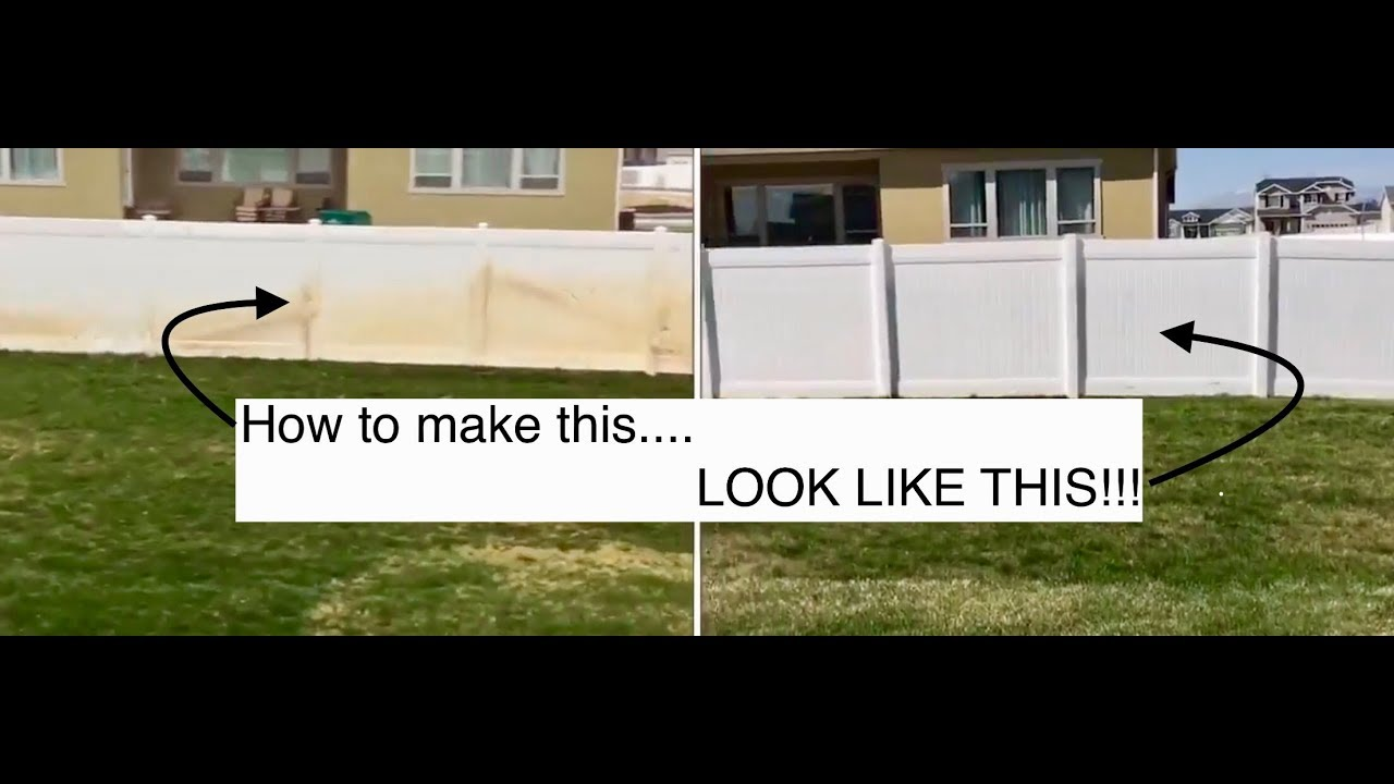 How To Clean Vinyl Fence Goofoff Rustaid Review Youtube