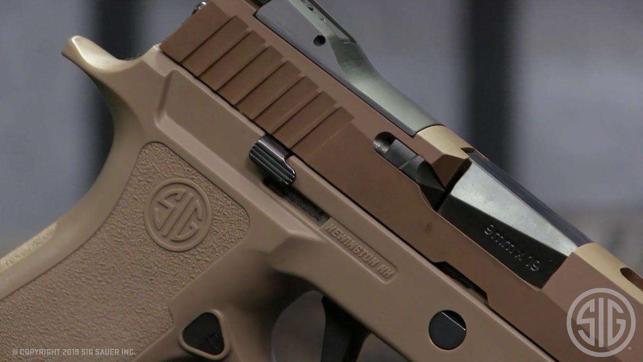 Sig Sauer P320 X-Five 9mm Pistol, Coyote Tan - 320X5-9-BAS-COY