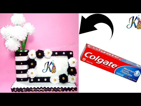 Best use of waste Colgate box and Wool | easy craft idea | home decor/cool craft |best out of waste