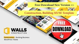 Walls Theme Free Download Construction Building WordPress Theme MUSE Template