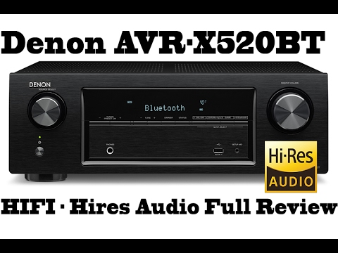 Denon 4K receiver AVR X520BT, 130W Hiress, 5.2 channels, testing with Studio MIC - FULL REVIEW