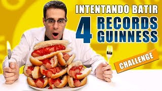 INTENTANDO BATIR 4 RECORDS GUINNESS | Challenge Parte 1