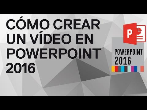 Cómo hacer un video en PowerPoint 2016 y 2013
