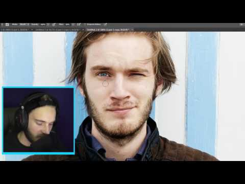MODELS WITHOUT MAKEUP  Pewdiepie Photoshop 1