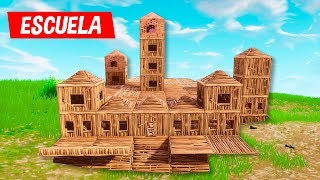 COMO CONSTRUIR UNA ESCUELA GIGANTE EN FORTNITE BATTLE ROYALE
