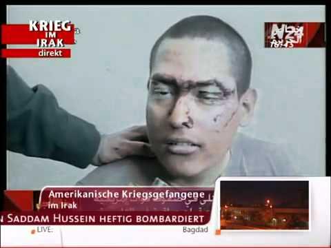 First American Prisoners of War Iraq 2003, German TV