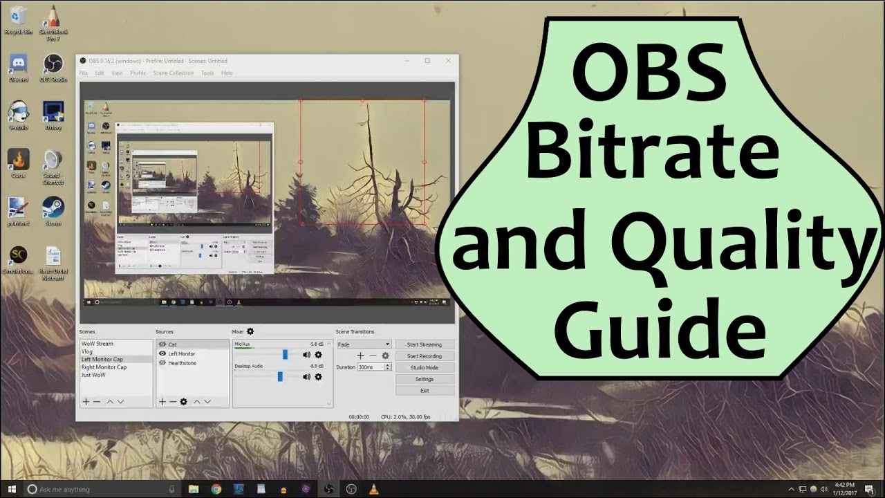 How to fix bitrate on obs
