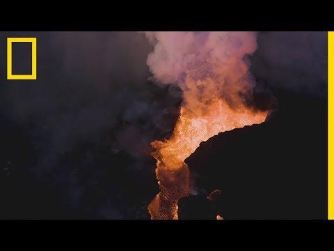 L'impressionnante éruption du