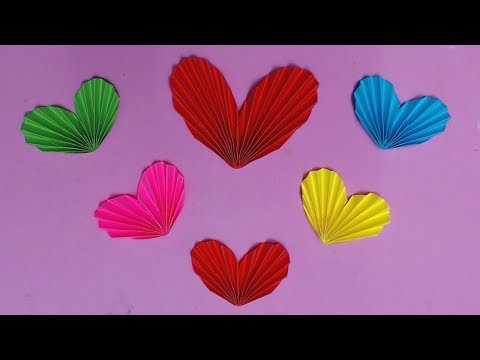 How to Make Heart with Color Paper | DIY Paper Hearts Making | Paper Crafts Ideas