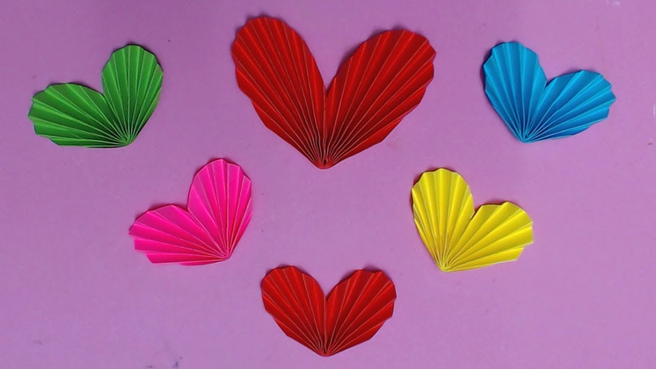 coloured paper craft ideas how to make with color paper diy paper hearts 3679