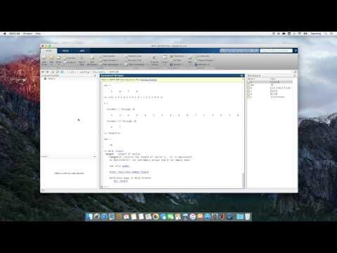 Computational Physics Video 5 - MATLAB script files