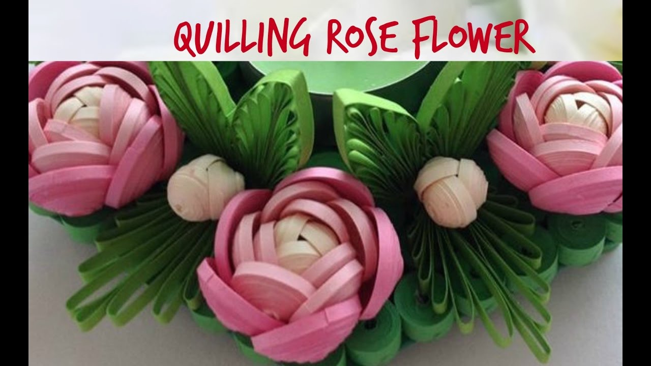 Quilling rose flower tutorial 17 youtube mightylinksfo