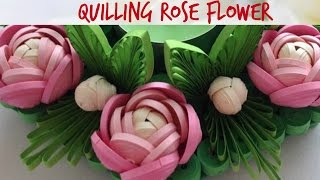 Quilling Rose Flower Tutorial #17