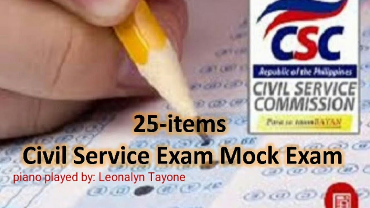 Civil Service Exam Sample Questions 2021