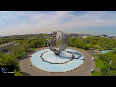 Drone Video - Flushing Meadows Corona Park - in 4K