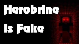Herobrine Proven As Fake