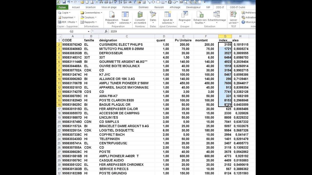 Excel La Fonction Alea Et La Selection Aleatoire D Un