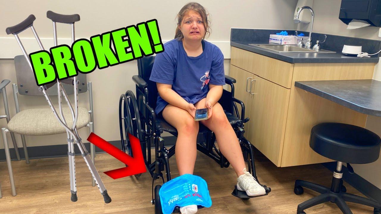 AUBREY BROKE her FOOT??!! AUBREY gets CRUTCHES 😢