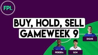 FPL GW9 TIPS: BUY, HOLD, SELL | Gameweek 9 | Fantasy Premier League 2019/20