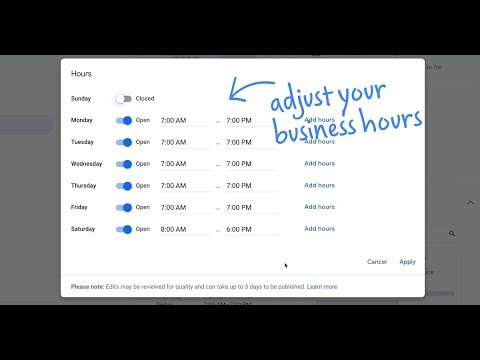 How do I adjust my business hours and description on Google? | Quick Help