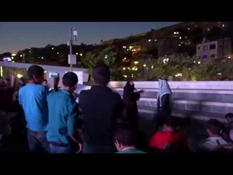 Palestinian (maybe!) singers in downtown Amman