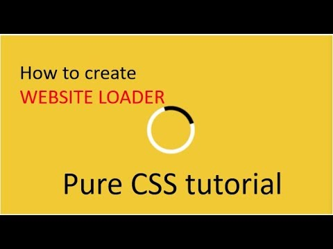 How to Create Website Loader   CSS Tutorial thumbnail