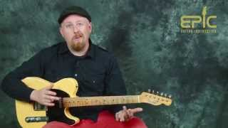 Guitar song lesson learn There There by Radiohead with chords strumming picking patterns