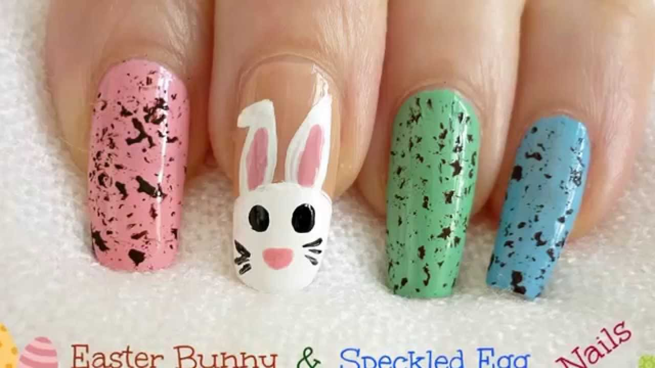 2014 Bps Nail Art Contest 10 Easter Bunny Speckled Egg Nails By