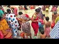 Sweet Girls Gentle Bathing At Ganges  Uncle Auntie Women Are Praying To God After Snan video
