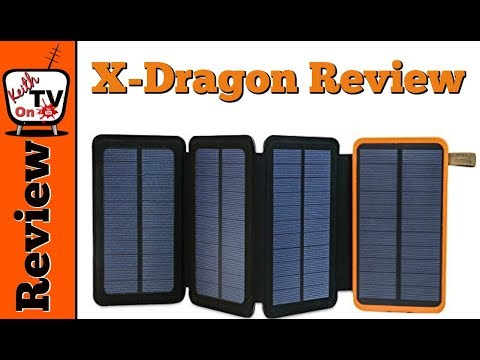 X-Dragon Solar Charger With Foldable Solar Panel Power Bank Review