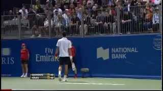 "Novak Djokovic // fight with fan ""Are you here to provoke?"""