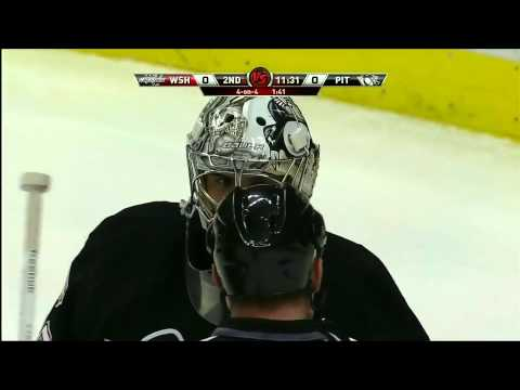 Marc-Andre Fleury flashes a huge glove on Ovechkin 2/21/11