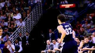 BYU's Jimmer Fredette Shoots a 3 Pointer From Stupid Range NCAA 2011 Sweet Sixteen HD 720p