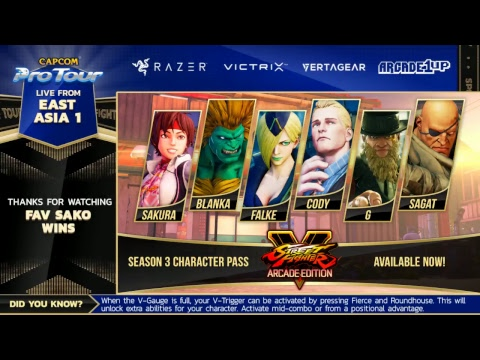East Asia 1 Top 8  Capcom Pro Tour Online 2018