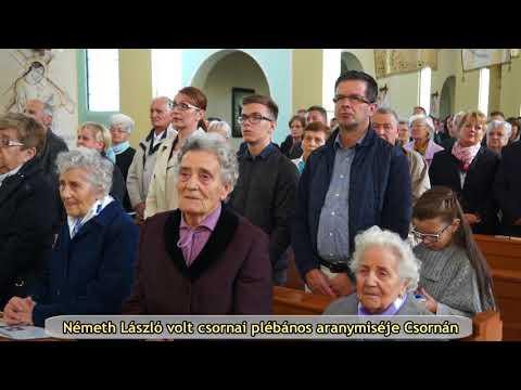 Németh László  volt csornai plébános aranymiséje Csornán
